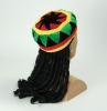 Velvet Rasta Hat & long Dreadlocks
